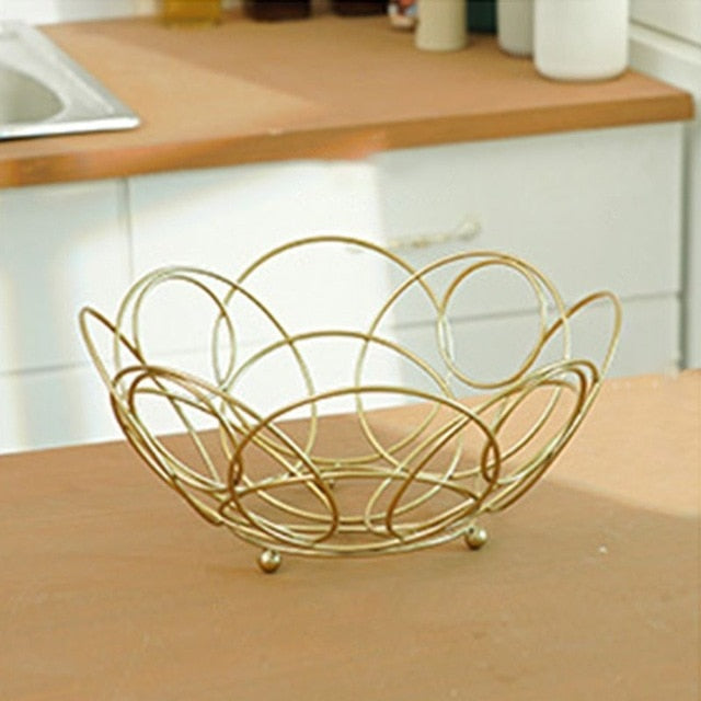 Geo Fruit Basket Counter Top Storage Bowl for Snacks
