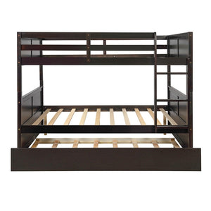 'Chester' Bed with Twin Size Trundle with Ladder Bed Frame