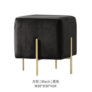 Baltimore Dressing Stool with Golden Legs