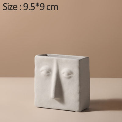 Creative Ceramic Face Vases