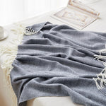 Load image into Gallery viewer, Classic Herringbone Throw Blanket