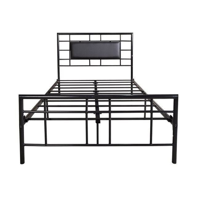 Nicholas Coffee Faux Leather Bed Frame