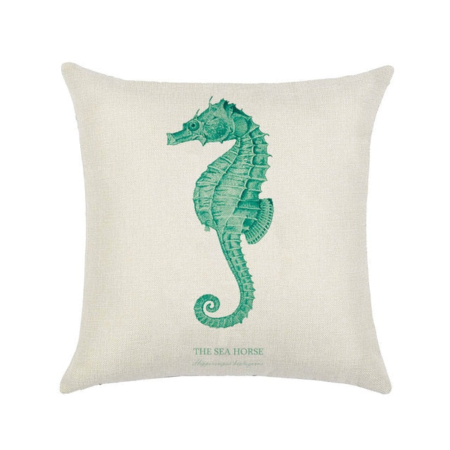 'Under The Sea' Hand-Painted Marine Cushion Covers