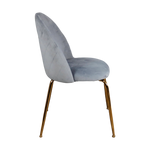 Load image into Gallery viewer, Velvet Dining Chair - Gold Legs (set of 2)