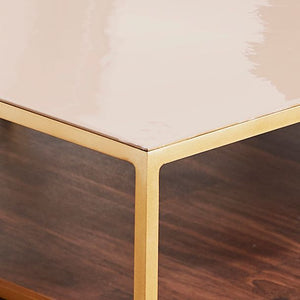 Gold Coffee Table Pale Pink