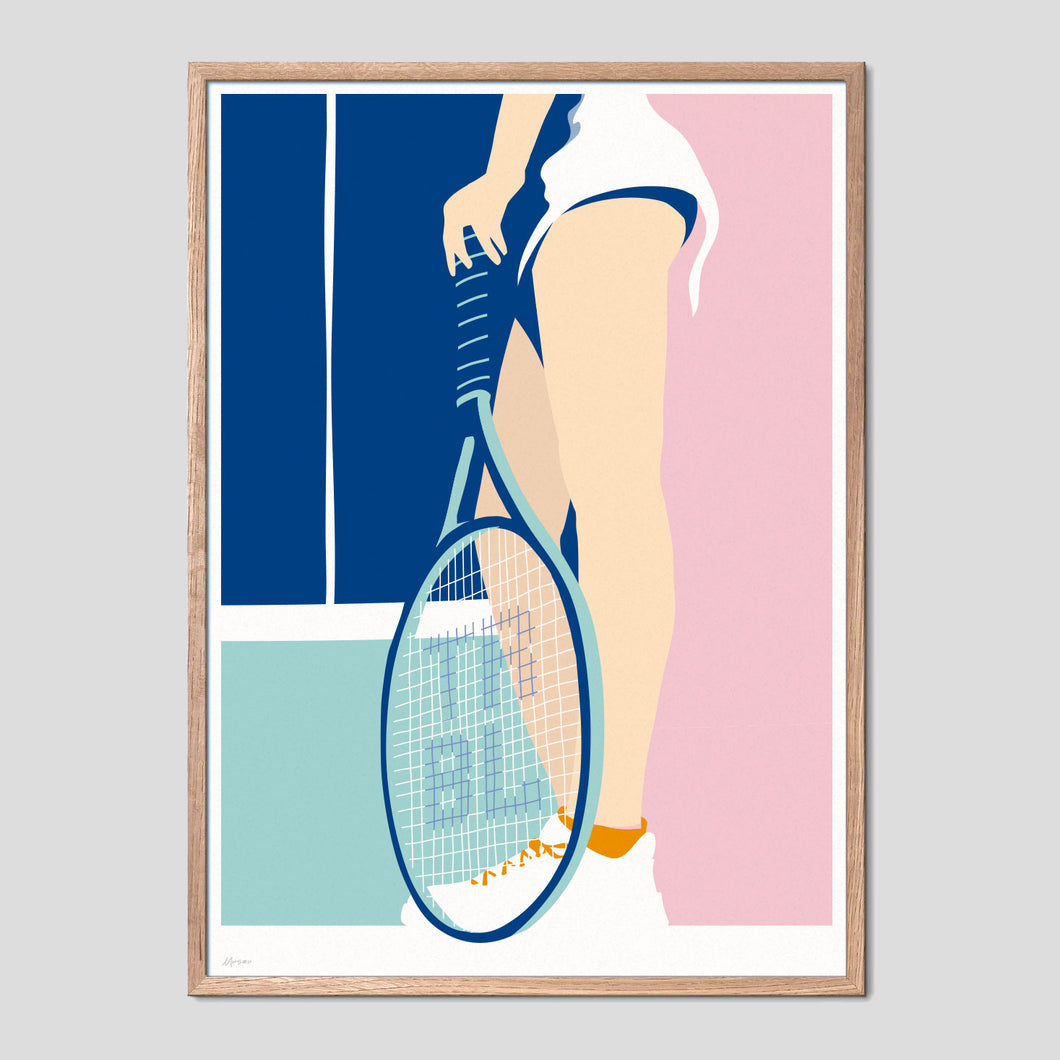 Tennis Girl Trouble Poster