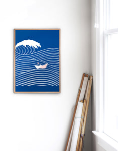 Brave Little Boat Graphic Poster