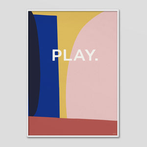 PLAY - Abstract Type Poster