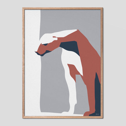 Sitting Panther Animal Abstract Poster