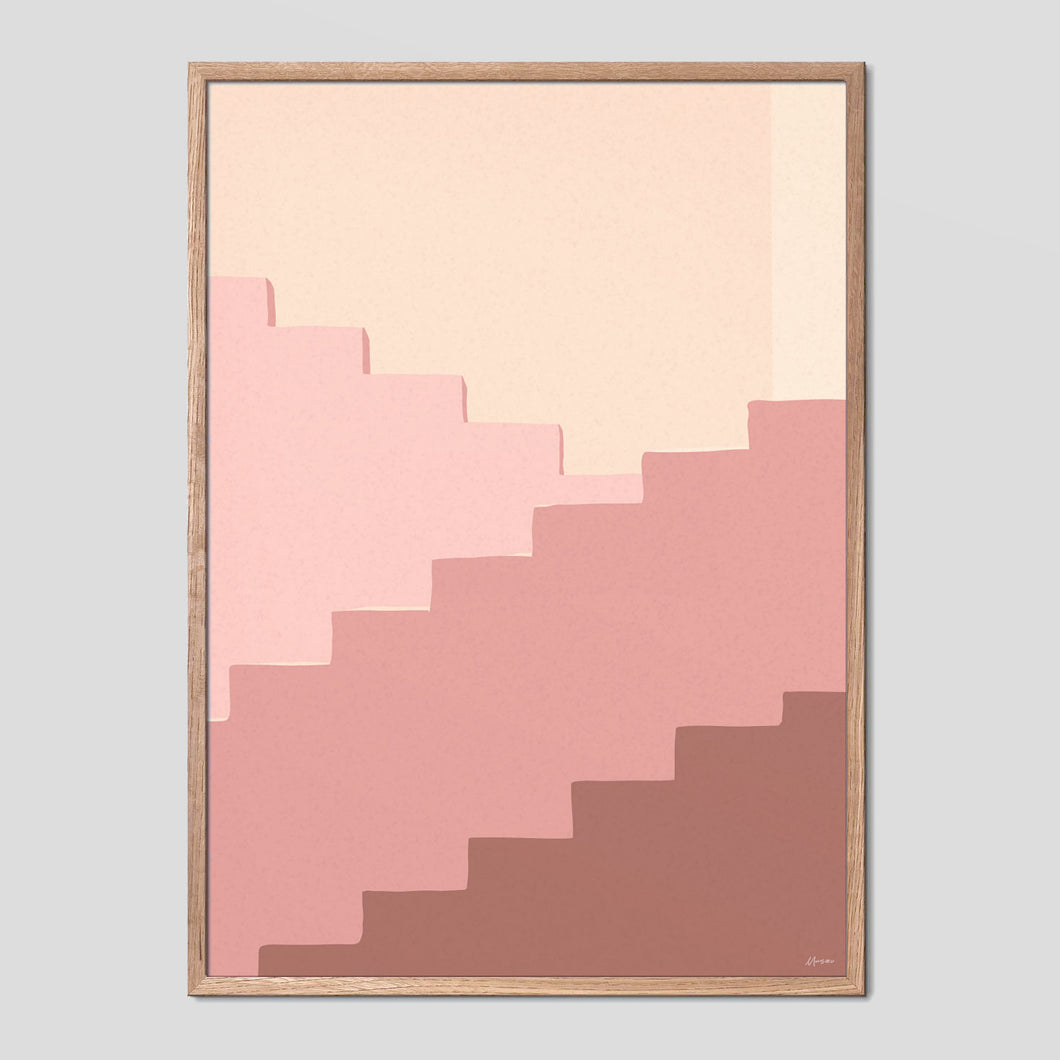 Moroccan Stairs Poster