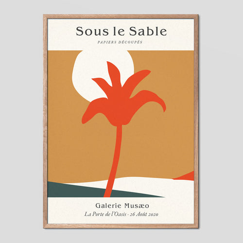 Sous Le Sable Vintage Exhibition Poster