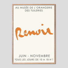 Load image into Gallery viewer, Renoir Musee Orangerie Exhibition Poster
