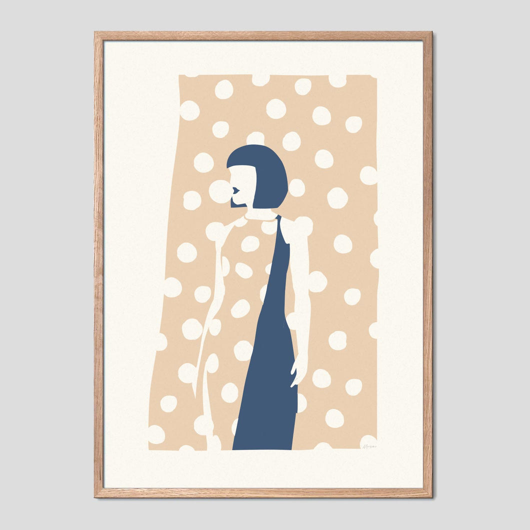 Bubble Gum Girl Art Print Poster