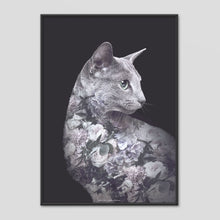 Load image into Gallery viewer, Silver Cat - Faunascapes Flower Portrait