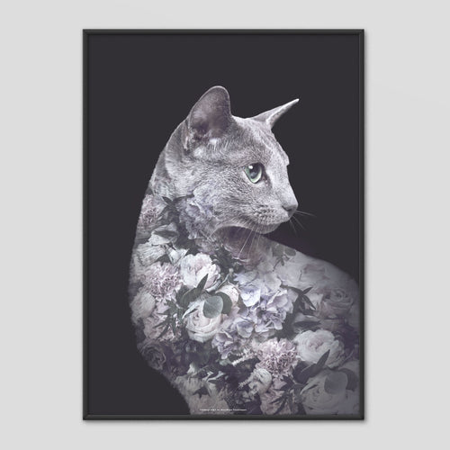 Silver Cat - Faunascapes Flower Portrait