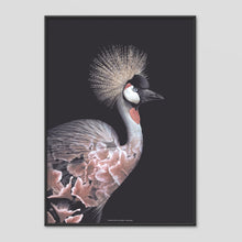Load image into Gallery viewer, Crowned Crane - Faunascapes Flower Portrait