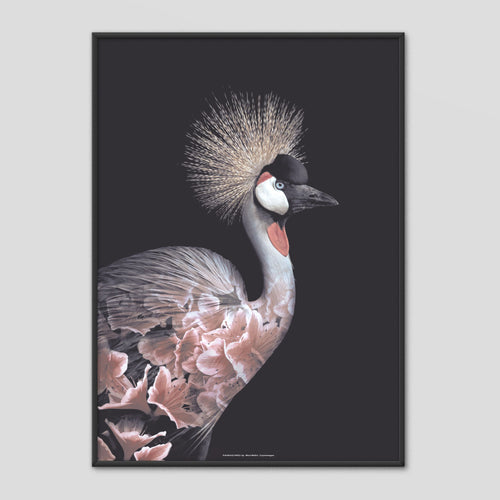 Crowned Crane - Faunascapes Flower Portrait