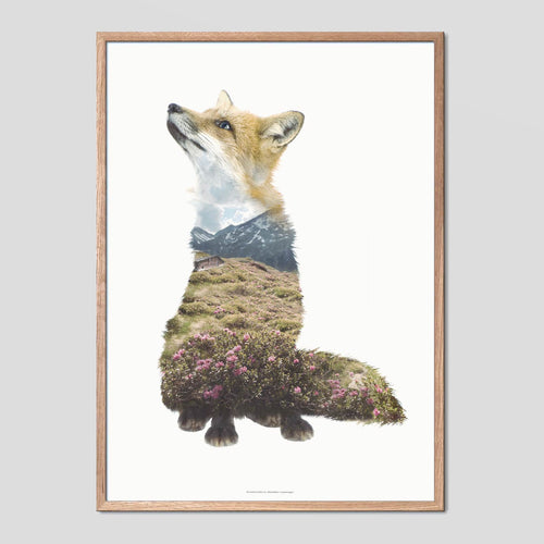 Fox - Faunascapes Double Exposure Poster