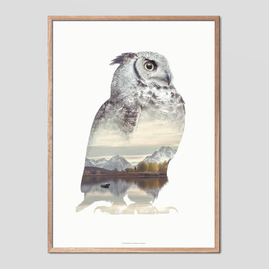 Owl - Faunascapes Double Exposure Poster