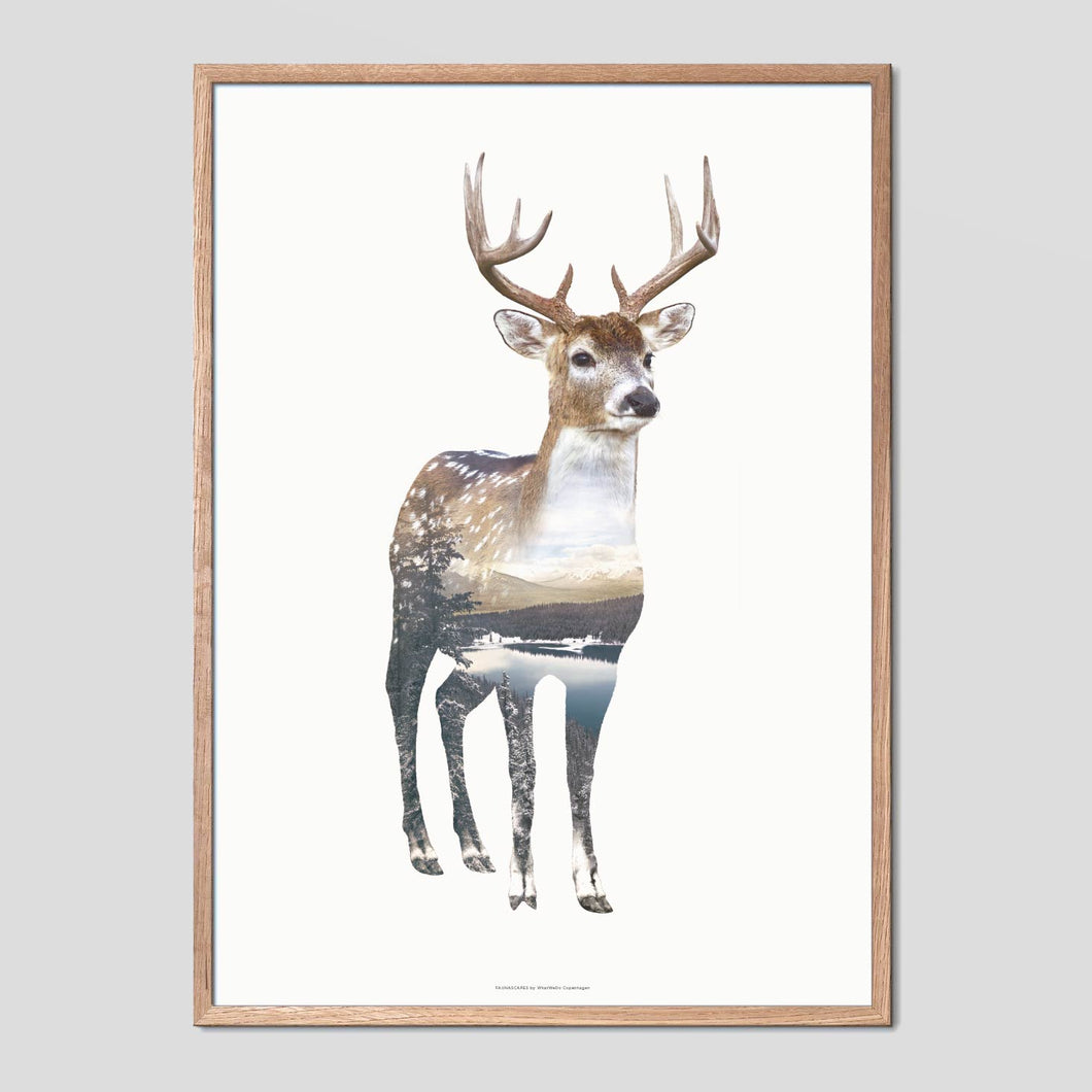 Deer - Faunascapes Double Exposure Poster