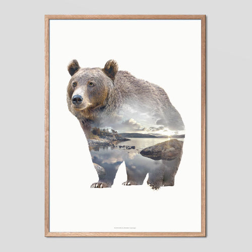 Bear - Faunascapes Double Exposure Poster