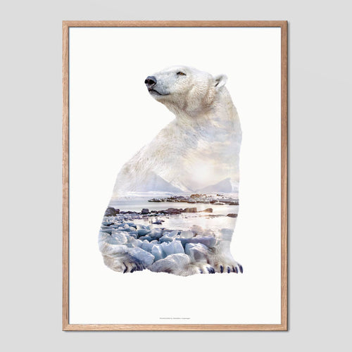 Polar Bear - Faunascapes Double Exposure Poster