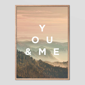You and Me - Faunascapes Landscape Quote