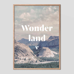 Wonderland - Faunascapes Landscape Quote
