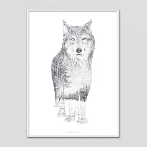 Wolf - Faunascapes Pencil Drawing