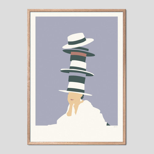Tower of Hats Art Print