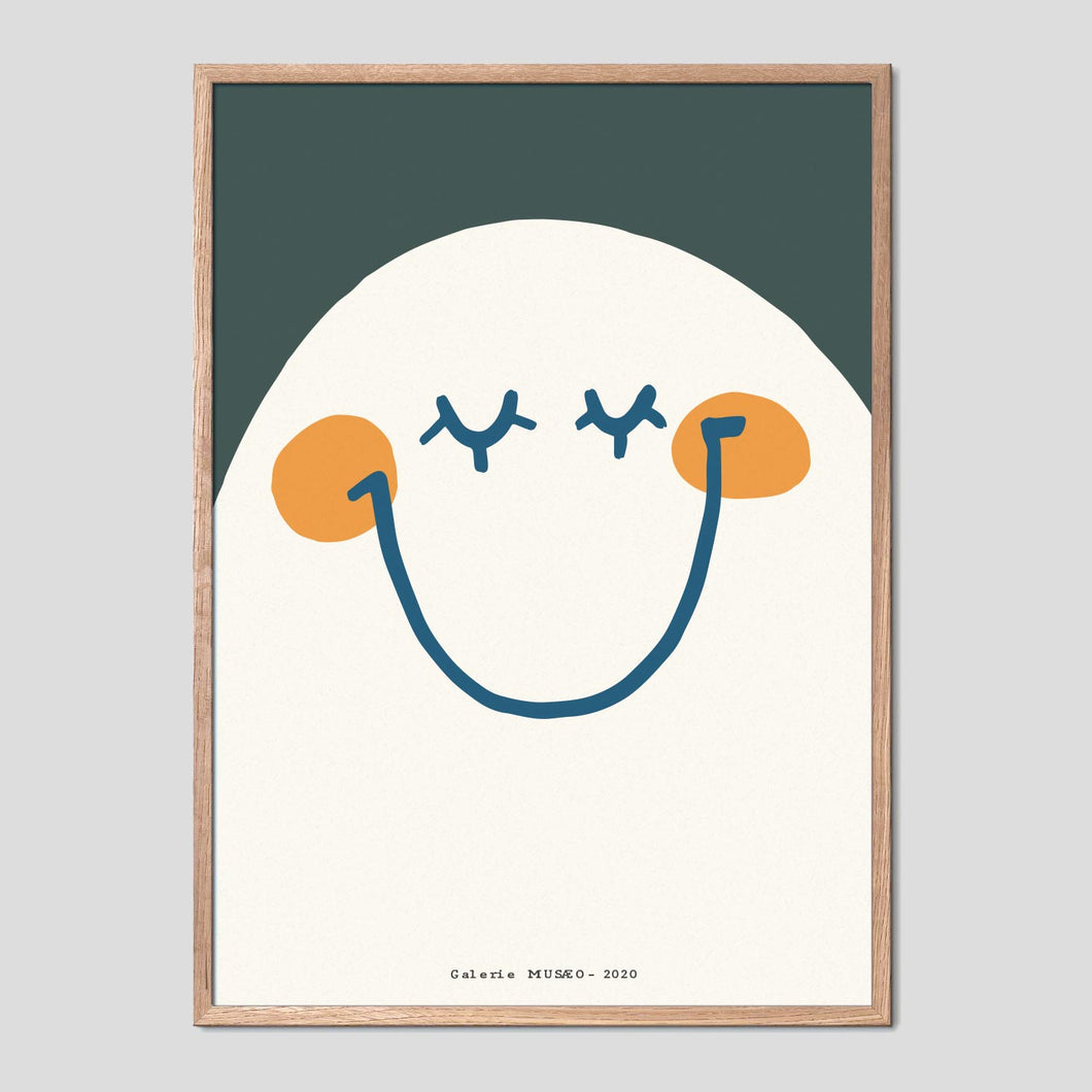 Happy Seventies Face Poster