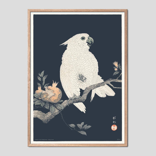 Cockatoo and Pomegranate - Ohara Koson Ukiyo-e Print