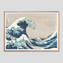 Load image into Gallery viewer, The Great Wave off Kanagawa - Katsushika Hokusai Ukiyo-e Print