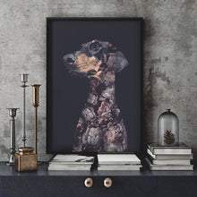 Load image into Gallery viewer, Doberman Dog - Faunascapes Flower Portrait