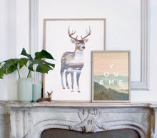 Load image into Gallery viewer, Deer - Faunascapes Double Exposure Poster