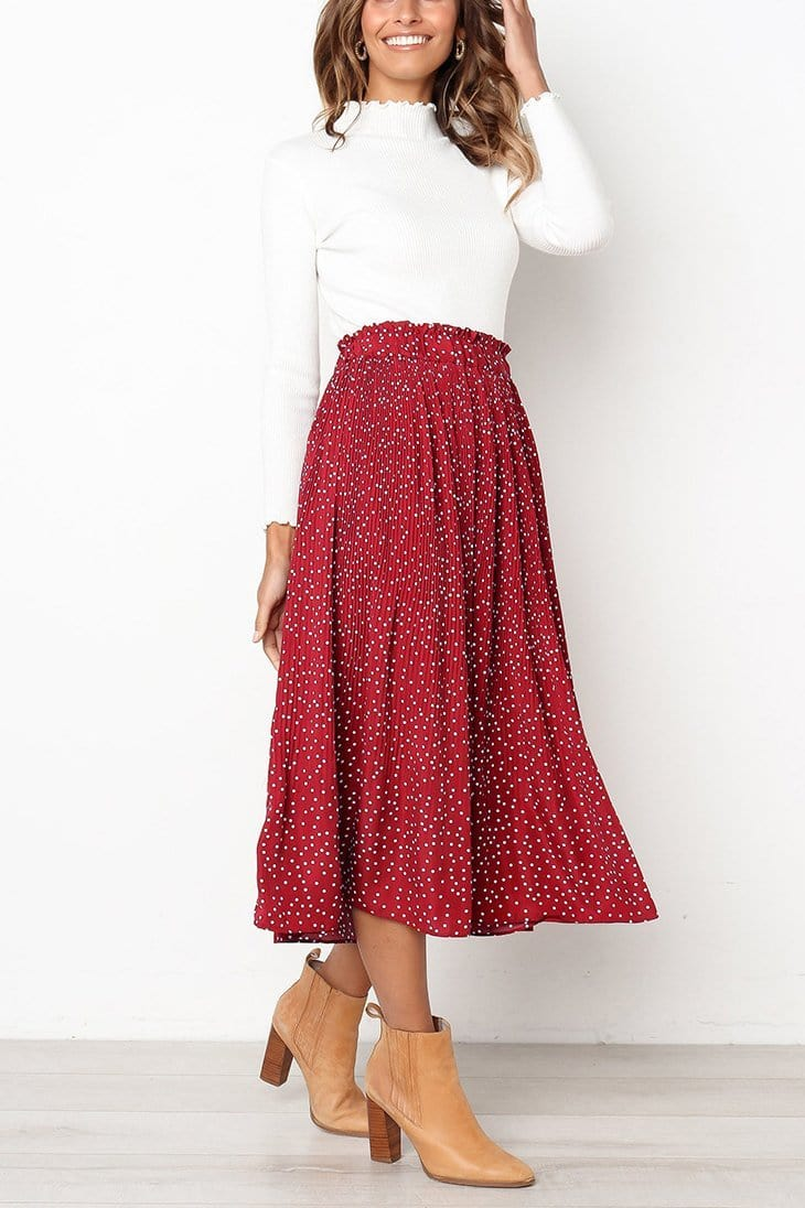 Fashion Wild Polka Dot Skirt