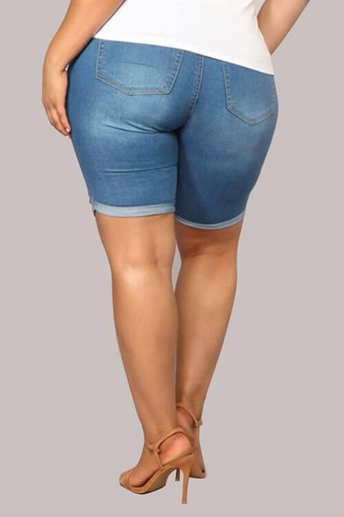 Fashion Casual Plus Size Denim Short