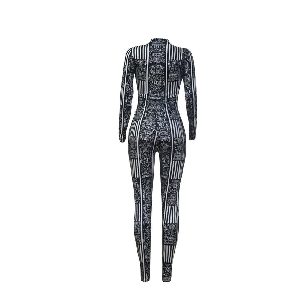 Casual Sexy Printed Tight-Fit Jumpsuit