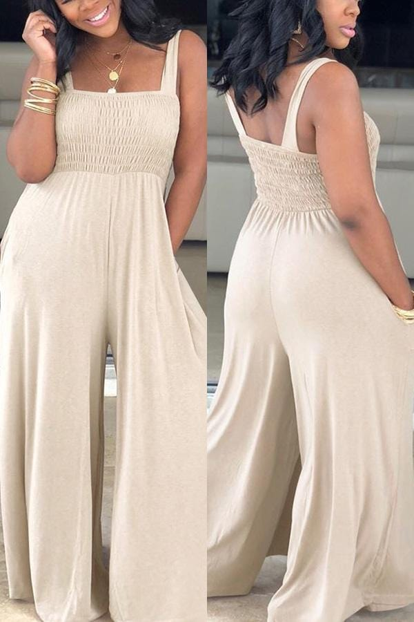Fashion Casual Loose Sling Jumpsuit
