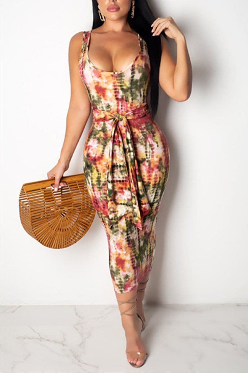 Fashion Sexy Printing Sling Dress