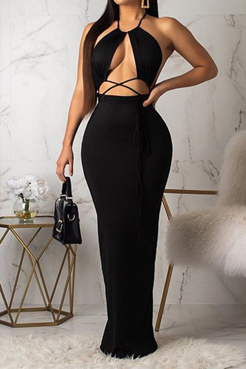 Sexy Fashion Sleeveless Long Dress