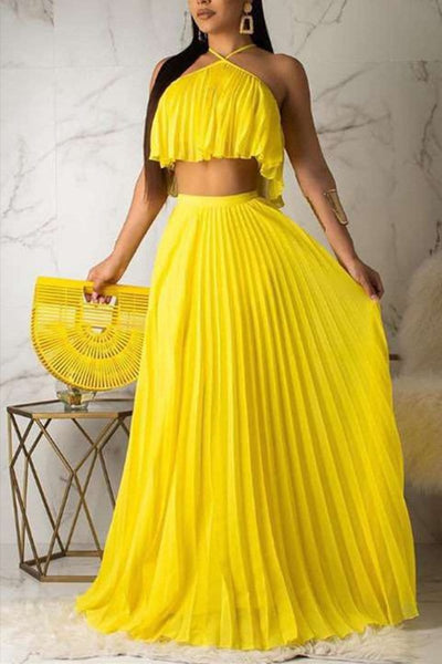 Fashion Sexy Sleeveless Skirts Set - VogueRegion