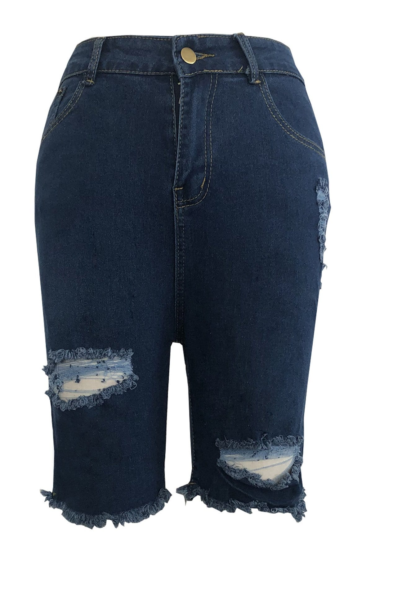 Fashion High Waist Stretch Hole Jeans - VogueRegion