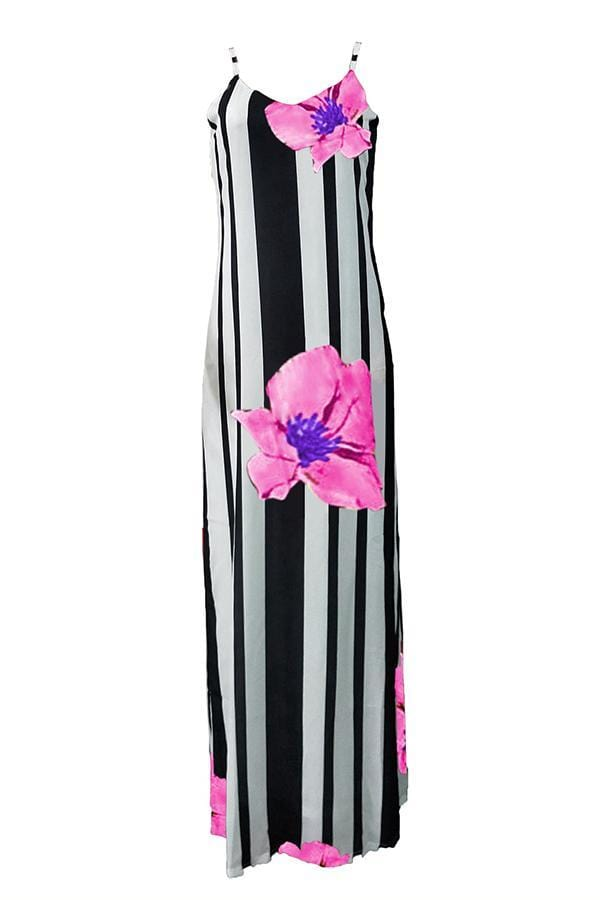 Floral Printed Floor Length Dress - VogueRegion