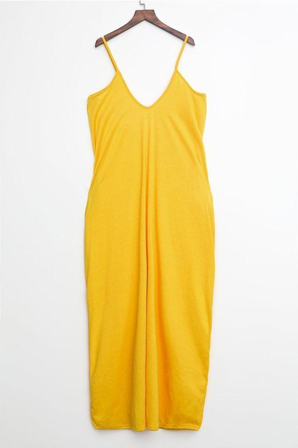 Casual Asymmetrical Floor Length Dress - VogueRegion