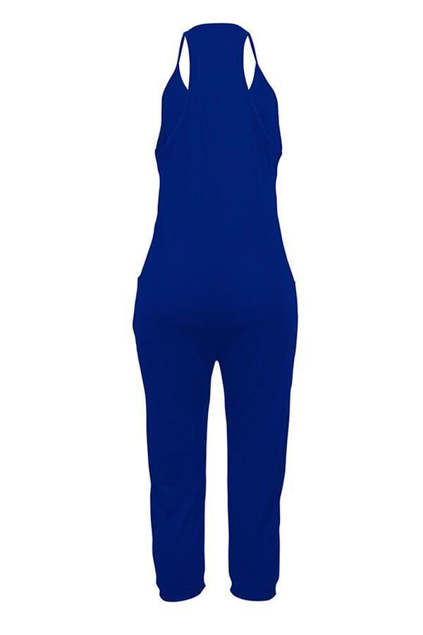 VogueRegion Euramerican Dew Shoulder Pocket Design Jumpsuits - VogueRegion