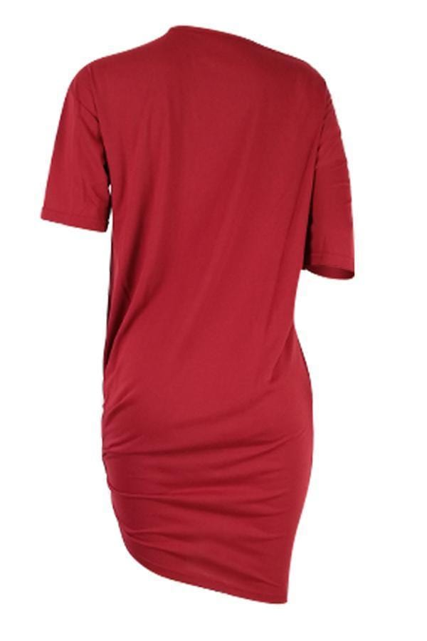 Casual Knot Design Knee Length Dress - VogueRegion