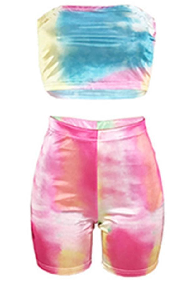 Dew Shoulder Two-piece Shorts Set - VogueRegion