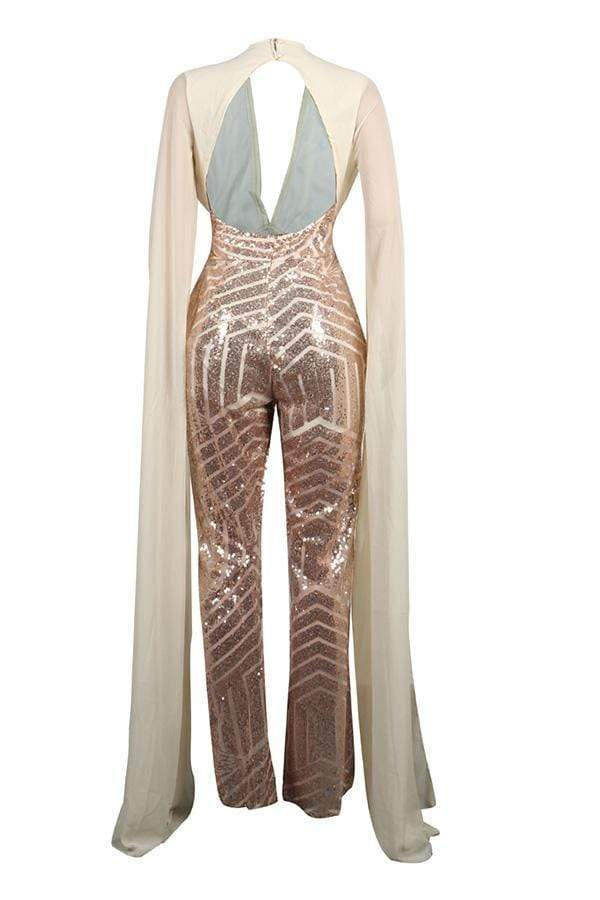 Trendy Sequined One-piece Jumpsuit