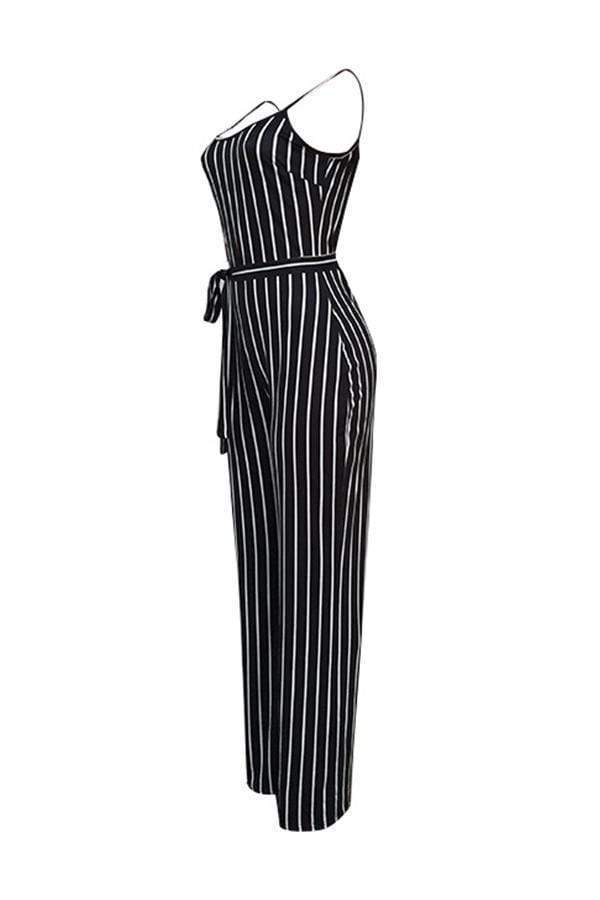 Trendy Striped One-piece Jumpsuit